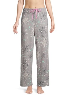 Hue Crystal Snow-Print Pajama Pants
