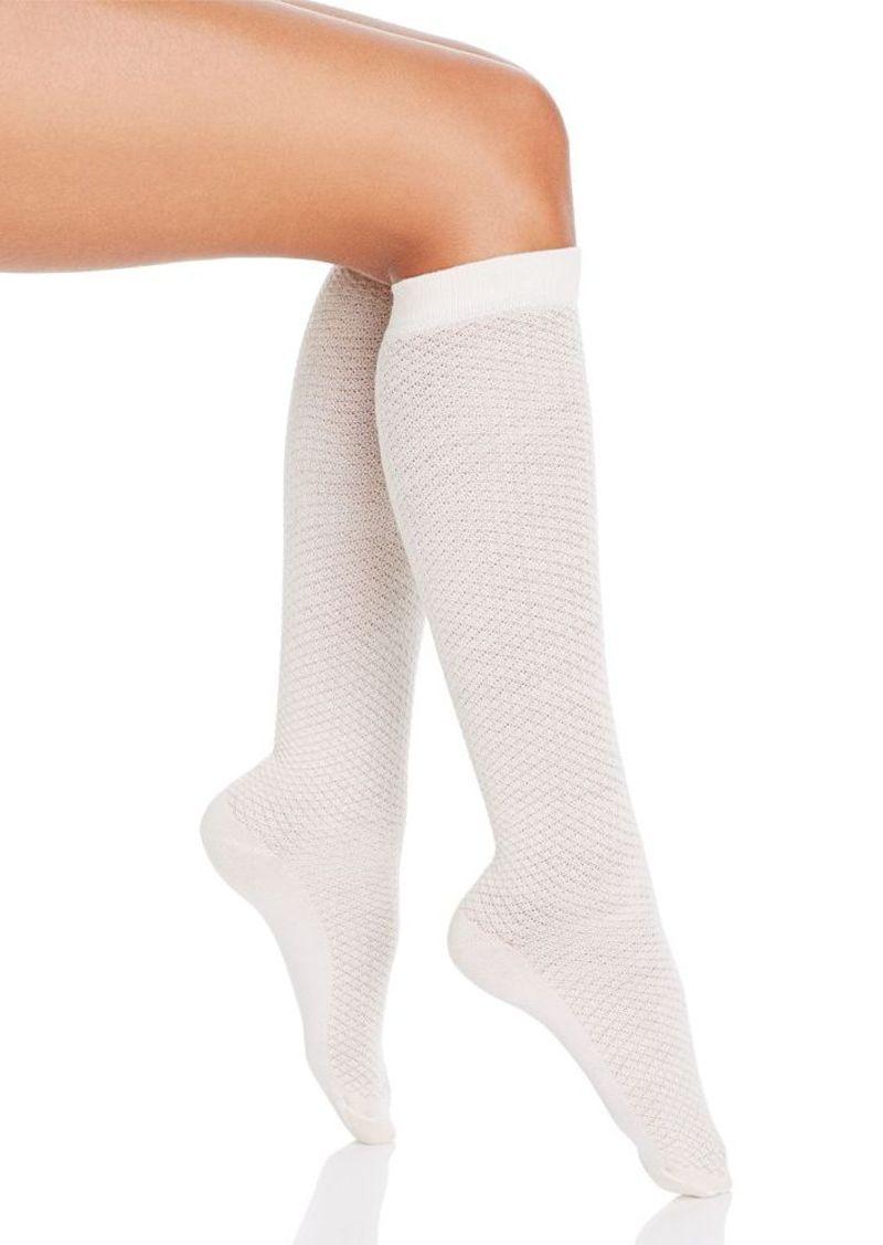 HUE Diamond Texture Knee Socks