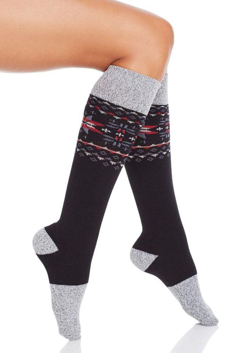 HUE Fair Isle Knee Socks