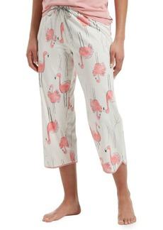 Hue Flamingo Bush Cotton Blend Capri Pajama Pants