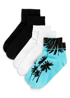 HUE Footsie Ankle Socks, Set of 3