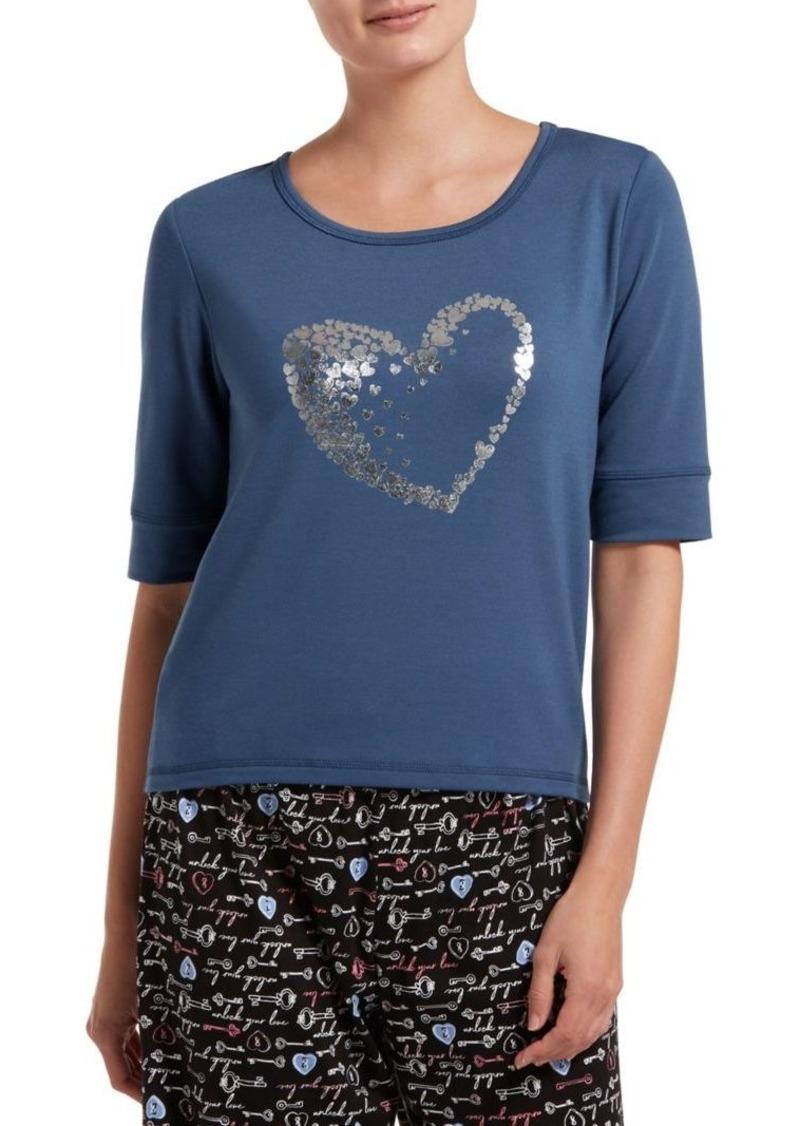 Hue Full Of Heart Pajama Top