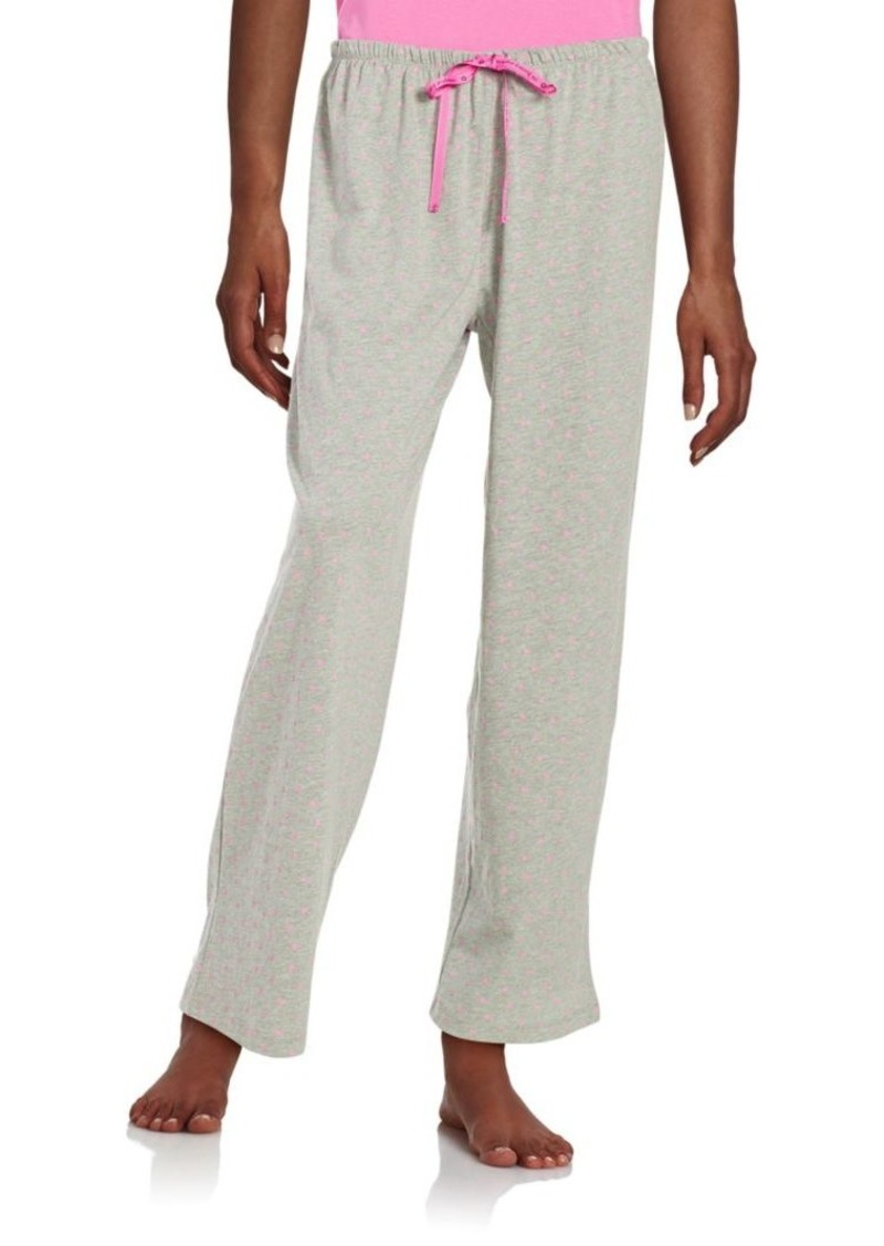 Hue Heart Patterned Pajama Pants