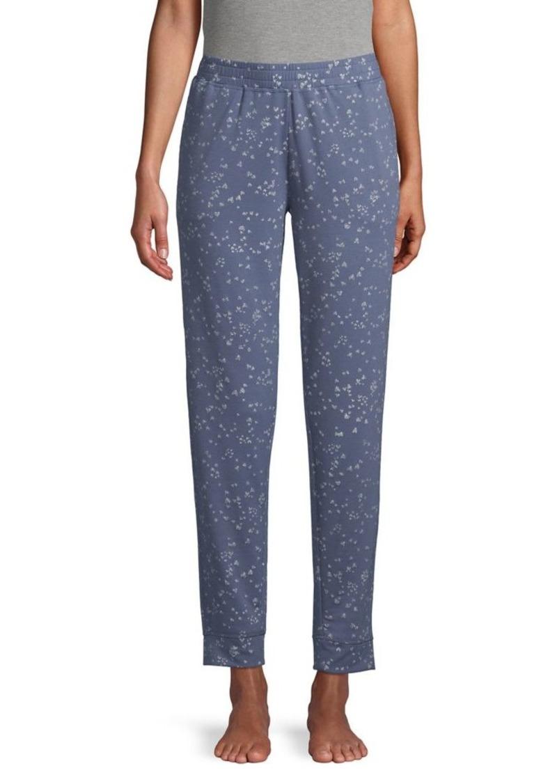 Hue Heart-Print Pajama Pants