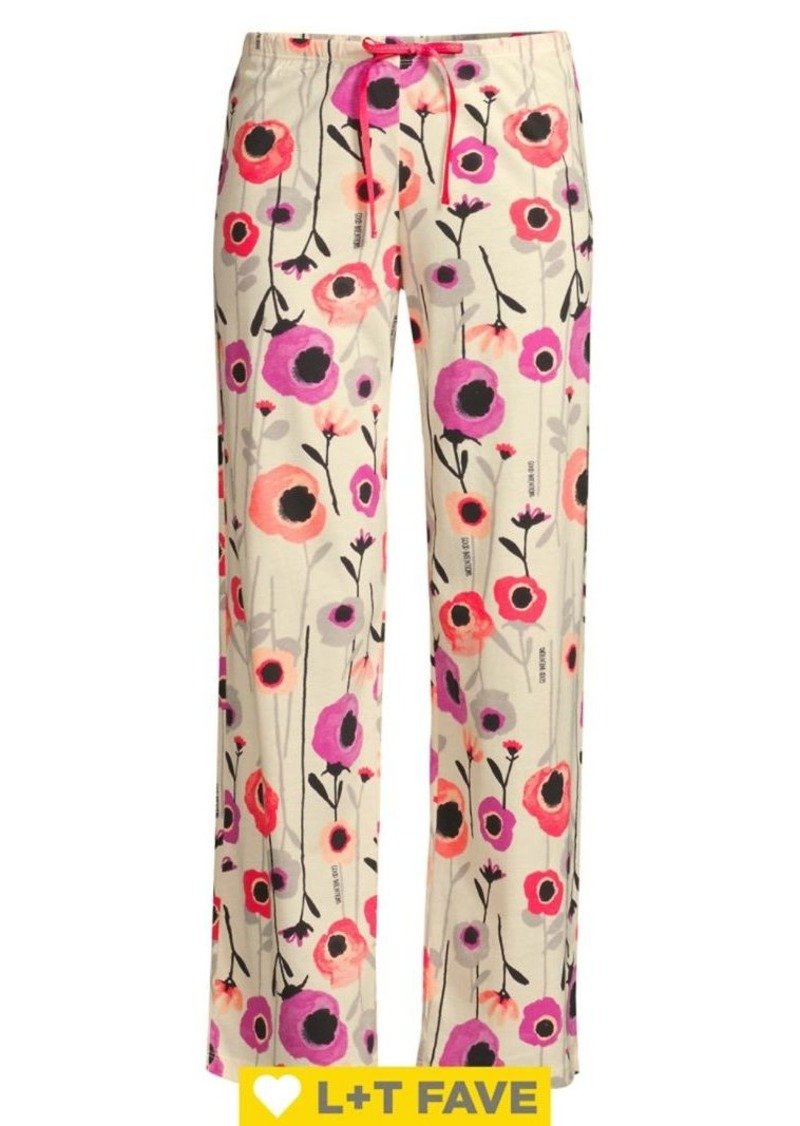 Hue Magical Floral Cotton-Blend Capri Pajama Pants