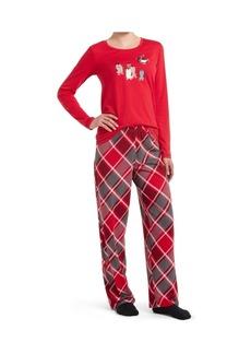 Hue Matching Pajama & Socks 3-Pc Set, Online Only