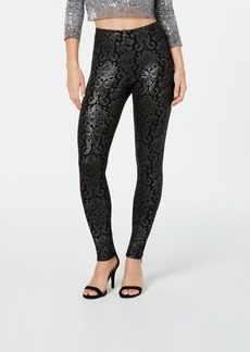 Hue Metallic-Tapestry Printed Leggings
