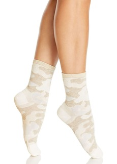 HUE Metallic Top Camo Shortie Socks