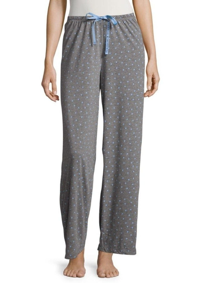 Hue Mini-Heart Print Pajama Pants