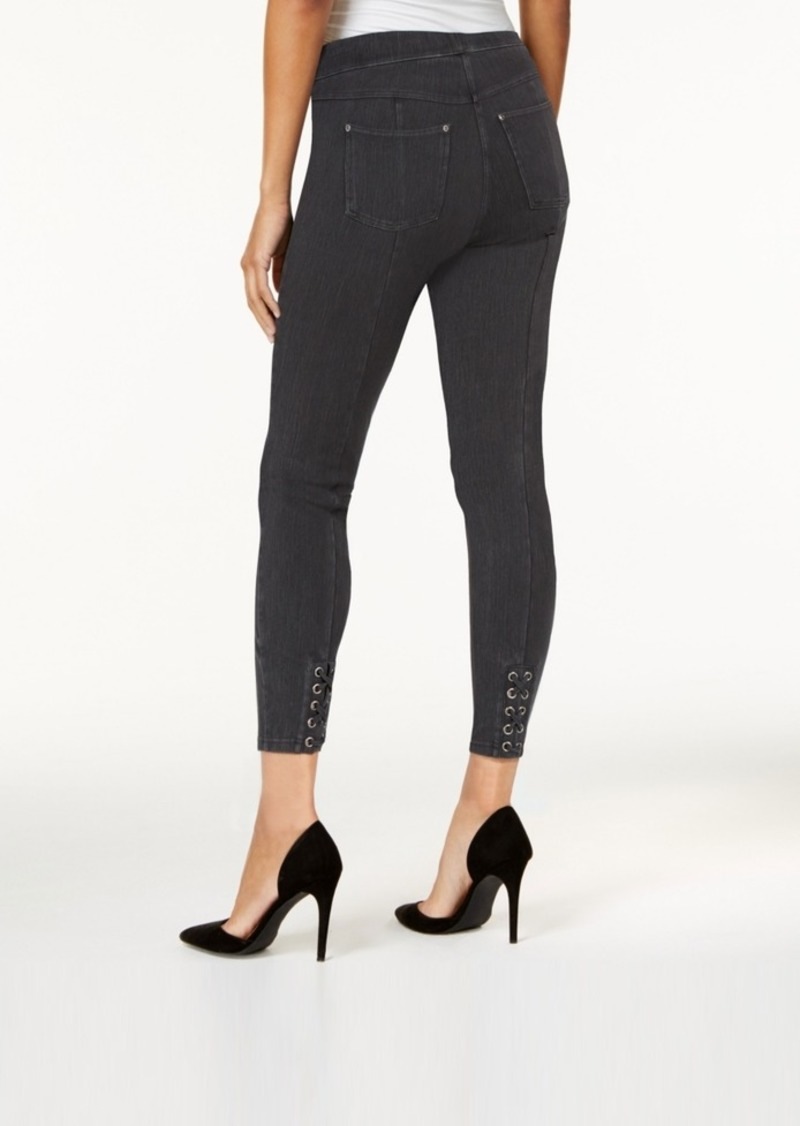 Hue Original Denim Laced-up Skimmer Leggings