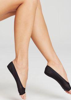 HUE Perfect Edge Peep Toe Liner Socks
