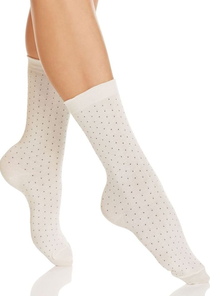 HUE Pindot Femme Crew Socks