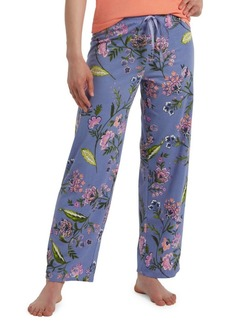 Hue Plus Flower of Eden Printed Cotton-Blend Skimmer Pajama Pants