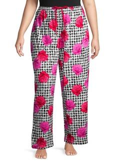 Hue Plus Rose Pizzazz Sleep Pants
