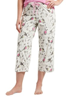 Hue Plus Singing Robin Capri Pajama Pants