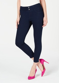 Hue Plus-Size Classic Smooth Denim Capris