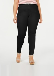 Hue Plus Size Classic Smooth Denim Leggings, Created for Macy's