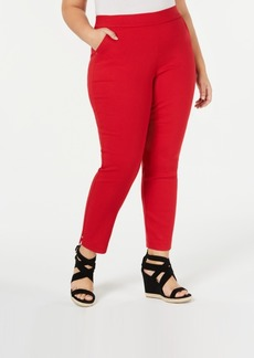 Hue Plus Size Diamond-Texture Skimmer Leggings
