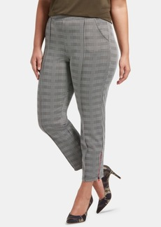 Hue Plus Size Glen Plaid Skimmer Leggings