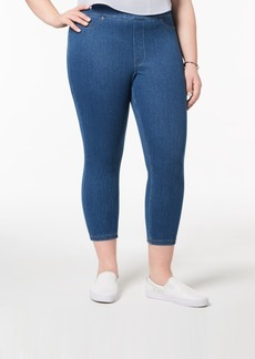 Hue Women's Plus Size Original Denim Capri Leggings