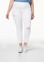 Hue Women's Plus Size Original Denim Ripped Knee, Created for Macy's