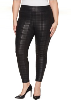HUE Plus Size Plaid Foil Leggings