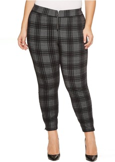 HUE Plus Size Plaid Loafer Skimmer
