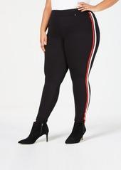Hue Plus Size Racer Stripe Original Denim Leggings