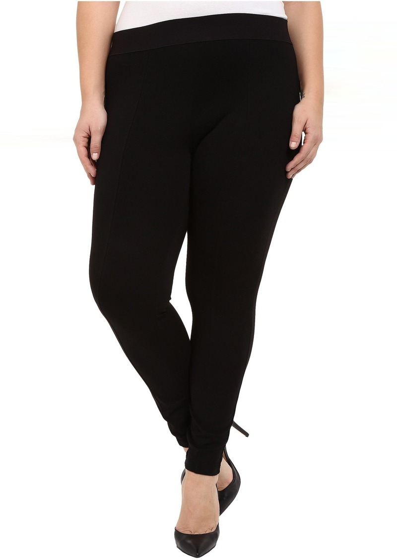 512d80002c8 Hue Plus Size Styletech High Waist Blackout Ponte Leggings