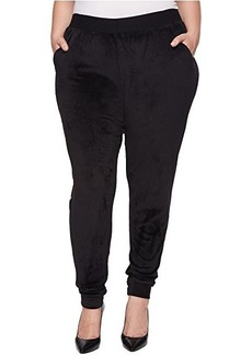 HUE Plus Size Velour Track Pants