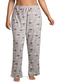 Hue Plus Survival Juice Cotton-Blend Pajama Pants