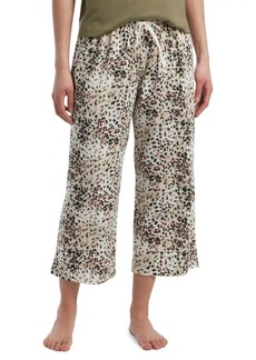 Hue Relaxed-Fit Wild Leopard-Print Cotton Blend Capri Pajama Pants