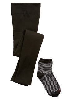 Hue Ribbed Leggings & Metallic Socks Gift Set