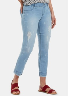 Hue Ripped & Cuffed Ultra-Soft Denim Girlfriend Skimmer Leggings