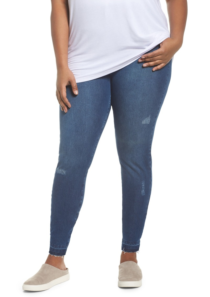 hot-selling latest sneakers top-rated quality Hue Hue Selvage Edge Ripped Denim Leggings (Plus Size) Now $31.20