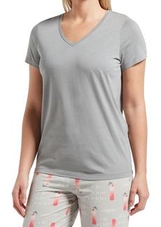 Hue Short-Sleeve Cotton Blend Pajama Top