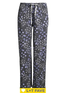 Hue Skin Dot-Print Cotton Blend Pajama Pants