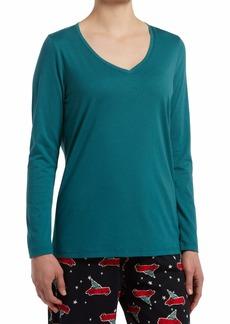 HUE Sleepwear Women's Long Sleeve V-Neck Sleep Tee