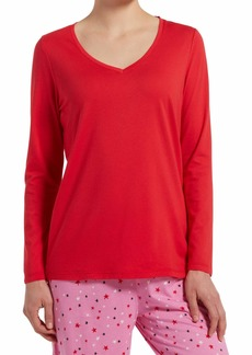 HUE Sleepwear Women's Long Sleeve V-Neck Sleep Tee
