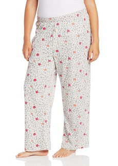 Hue Sleepwear Women's Plus-Size Plus Floral Bed Pant