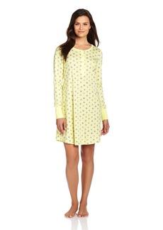 Hue Sleepwear Women's Pop Dotz Long Sleeve Henley Sleepshirt