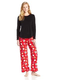 HUE Sleepwear Women's Set Fleece Girls Night Out