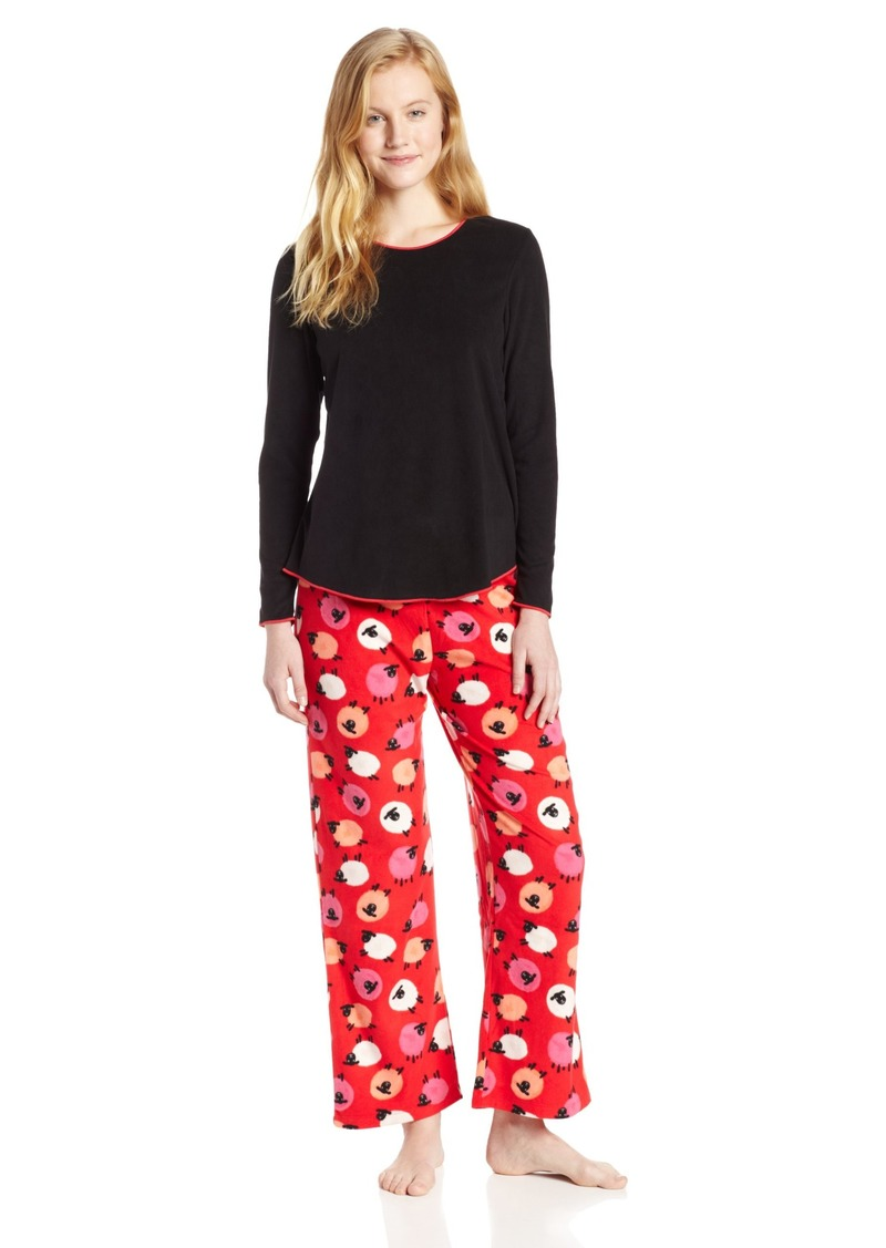 HUE Sleepwear Women's Set Fleece Girls Night Out