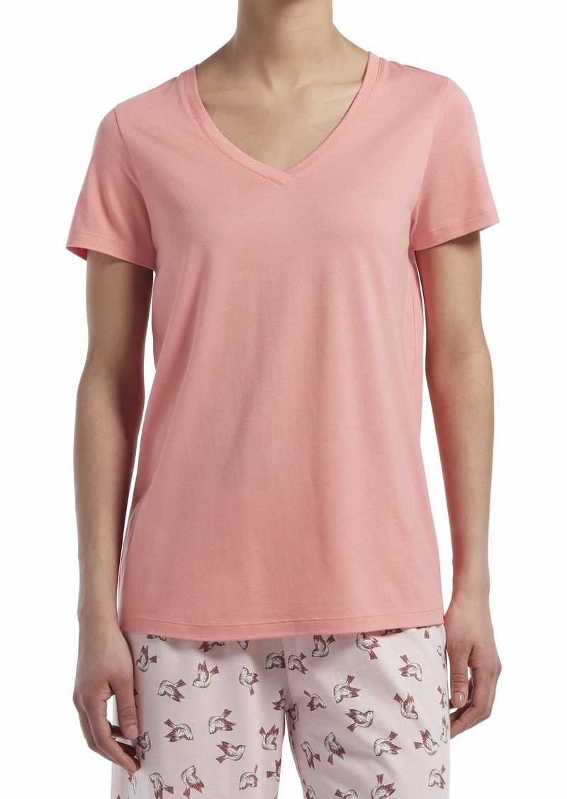 HUE Sleepwear Women's Short Sleeve V-Neck Sleep Tee
