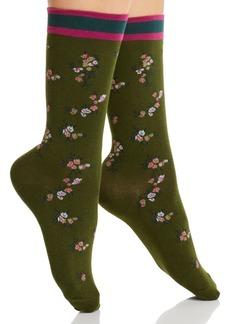 HUE Spring Floral Crew Socks