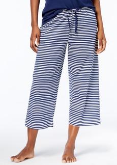 Hue Sweet Stripe Cotton Capri Pajama Pants