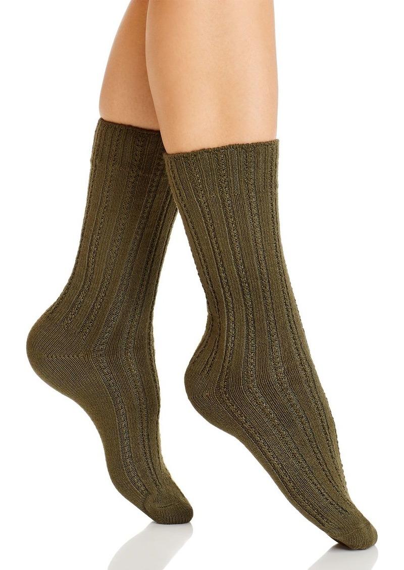 HUE Temp Tech Stitch Rib Socks