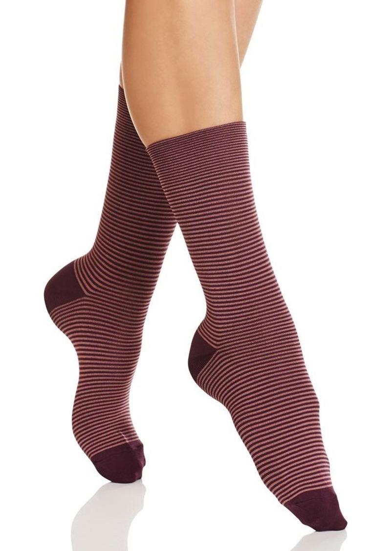 HUE Ultrasmooth Stripe Crew Socks
