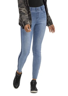 HUE Washed Tuxedo Denim High Rise Leggings