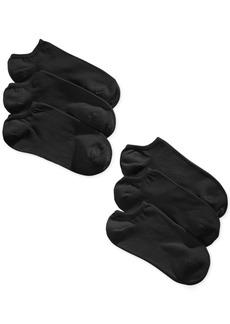 Hue Women's 6 Pack Cotton No Show Socks